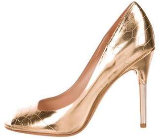 Sigerson Morrison Metallic Peep-Toe Pumps