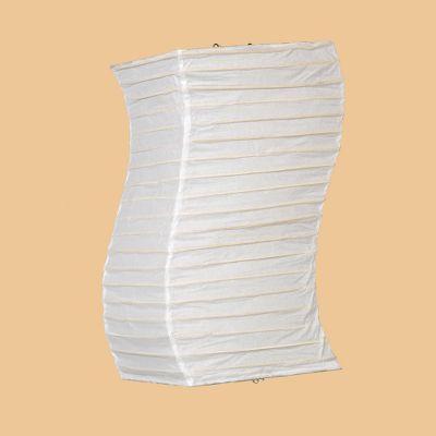 Aki Curved White Paper Lantern