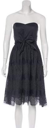 Tibi Strapless Midi Dress