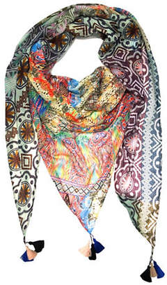 Laundry by Shelli Segal Printed Triangle Wrap Scarf