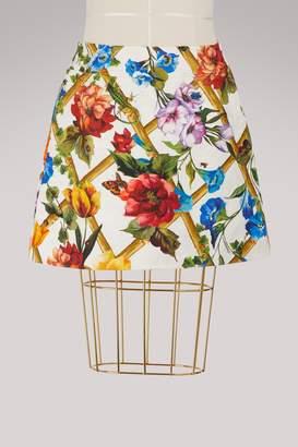 Dolce & Gabbana Bamboo printed short skirt