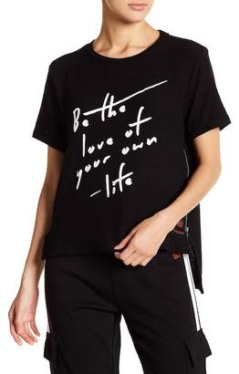 "Peace Love World Taylor ""Love of Your Own Life\"" Print Tee"