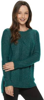Dana Buchman Women's Cable-Knit Lurex Sweater