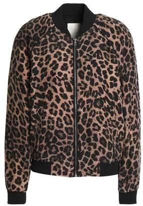 Joie Printed Silk Bomber Jacket