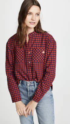 Scotch & Soda Loose Checked Top