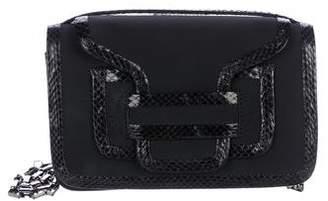 Pierre Hardy Snakeskin-Trimmed Flap Shoulder Bag