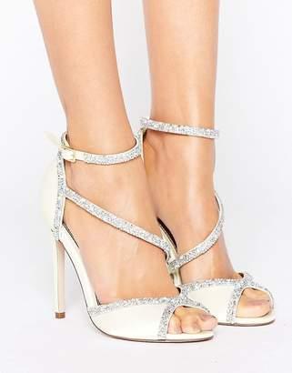 Asos Hibiscus Bridal Embellished Heeled Sandals