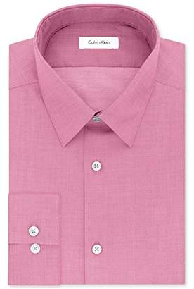 Calvin Klein Men's Slim Fit Non-Iron Herringbone Point Collar Dress Shirt
