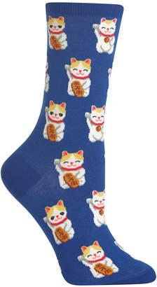 Hot Sox Women's Lucky Cat Socks