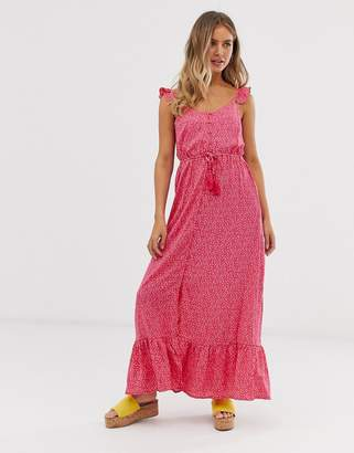 96f68d10ef5 New Look frill strap maxi dress in pink ditsy floral