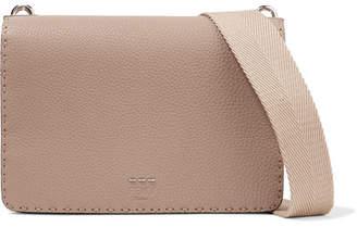 Fendi Textured-leather Shoulder Bag - Mushroom