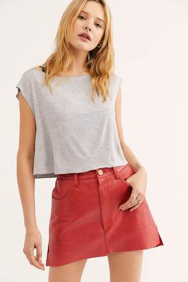 One Teaspoon Oneteaspoon Vanguard Leather Mini Skirt