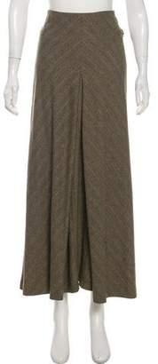 Les Copains Wool-Blend Herringbone Midi Skirt