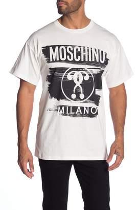 Moschino Logo Print Crew Neck Tee