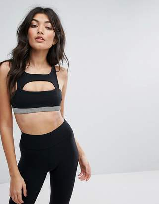 Blue Life Fit Cut Out Sports Bra