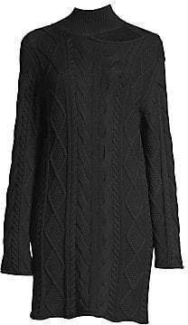 RtA Women's Corin Cut-out Cableknit Sweater Dress