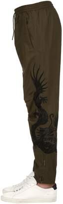 MHI 19cm Embroidered Cotton Biker Pants