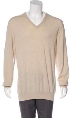 Loro Piana Baby Cashmere V-Neck Sweater tan Baby Cashmere V-Neck Sweater