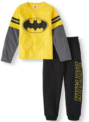 Batman Long Sleeve Tee And Jogger Outfit Set (Little Boys)
