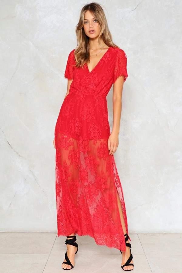 nastygal Rush Flower Maxi Dress