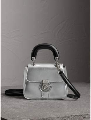 Burberry The Mini DK88 Top Handle Bag in Metallic Leather