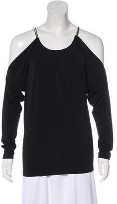 MICHAEL Michael Kors Off-Shoulder Long Sleeve Top