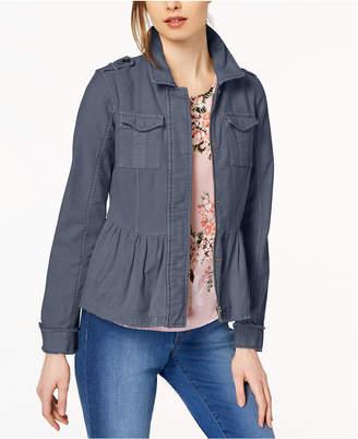 Maison Jules Cotton Peplum Jacket, Created for Macy's