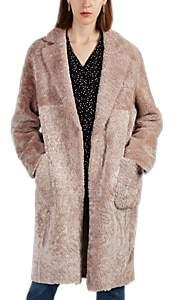 Barneys New York Women's Alice Shearling Coat - Pink