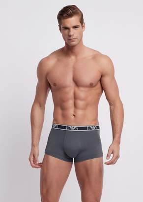 Emporio Armani Pack Of Three Stretch Cotton Boxers With Logo Elastic