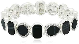 Nine West Women's /Crystal Stretch Bracelet