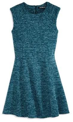 Miss Behave Girls' Patricia Metallic Knit Dress - Big Kid