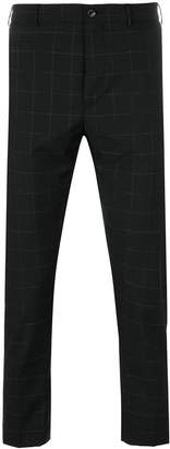 Berwich windowpane check cropped trousers