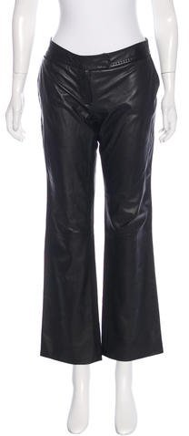 Fendi Cropped Leather Pants