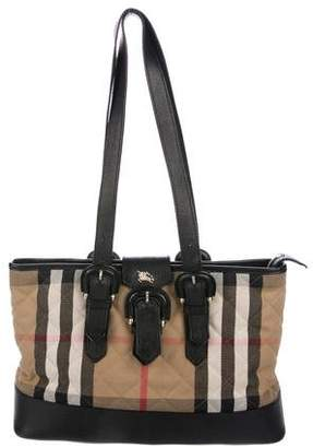 Burberry Quilted House Check Tote