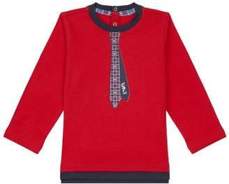 Giorgio Armani Tie Print Logo T-Shirt