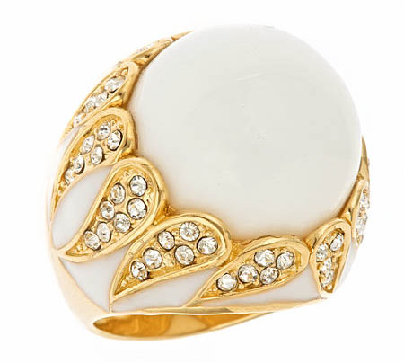 Andara White Agate Cocktail Ring