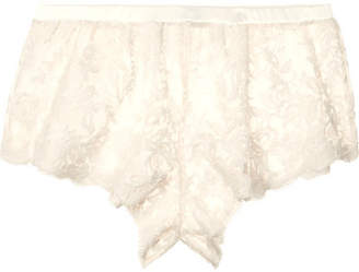 Rosie Embroidered Cotton-blend Tulle Shorts - Ivory