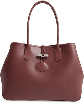Longchamp Roseau Leather Shoulder Tote