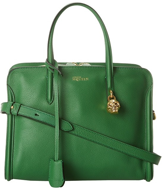Alexander McQueen Small Padlock Zip Around (Green) - Bags and Luggage