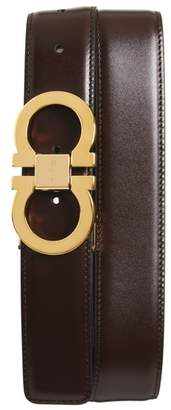 Salvatore Ferragamo Double Gancini Leather Belt