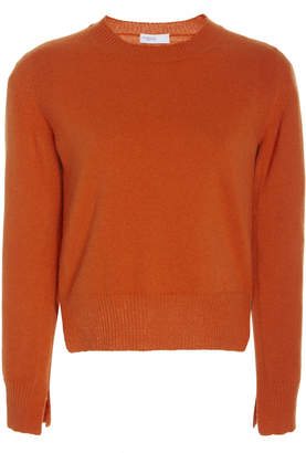 Rosetta Getty Cropped Slit Wool-Blend Pullover