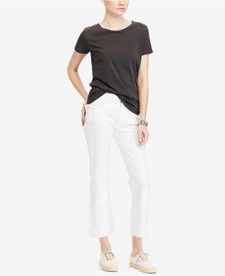 Denim & Supply Ralph Lauren Crop High-Rise Flare Jeans $98.50 thestylecure.com