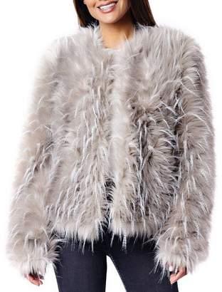 Fabulous Furs Ostrich Faux Fur Coat
