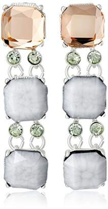 """m. haskell Fashion Jewelry """"Tribal Glam"""" -Faceted Stone Triple Drop Earrings"""