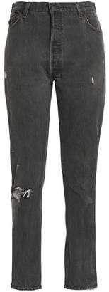 Levi's Re/Done By Distressed High-Rise Slim-Leg Jeans