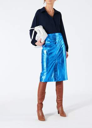 Tibi Tech Leather Trouser Skirt