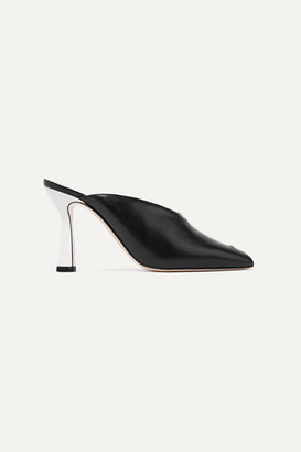 Wandler Niva Two-tone Leather Mules - Black