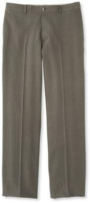 L.L. Bean L.L.Bean Washable Year-Round Wool Pants, Classic Fit Plain Front Herringbone