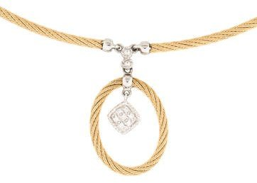 Charriol Charriol Diamond Drop Pendant Necklace