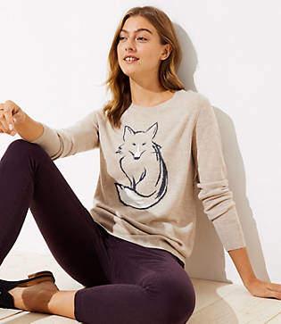 LOFT Fox Sweater